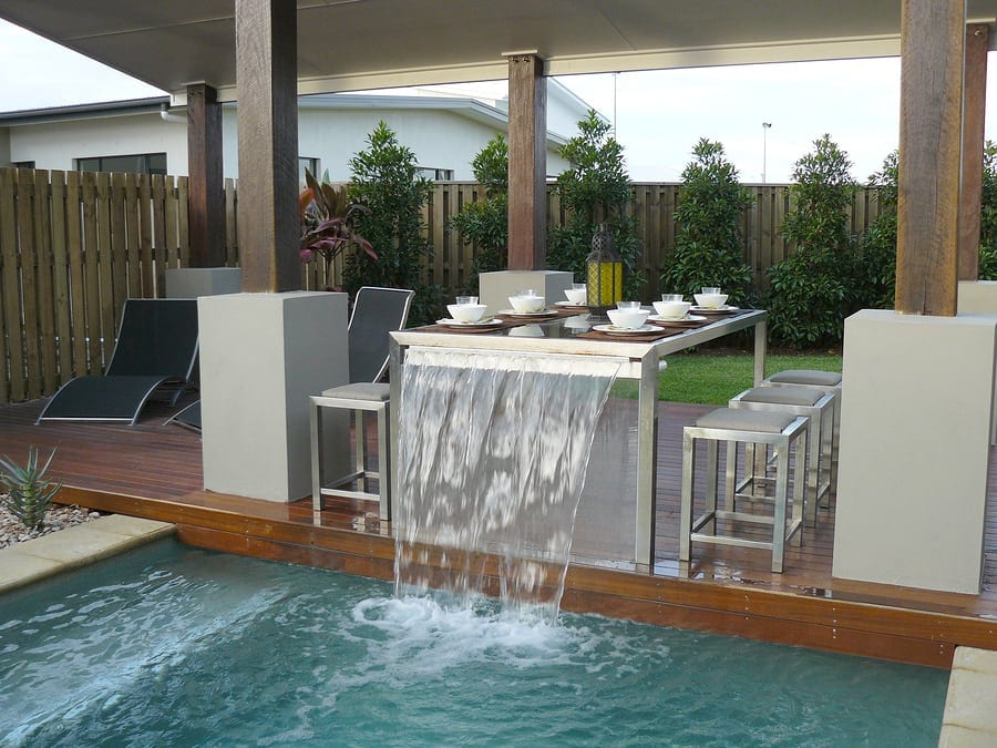 A pool company in houston that features water designs for Pool design houston tx