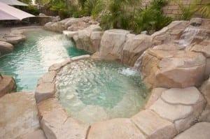 3290377 - tropical custom pool with waterfalls.